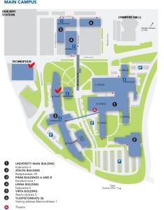 University Campus and Technolopolis area map
